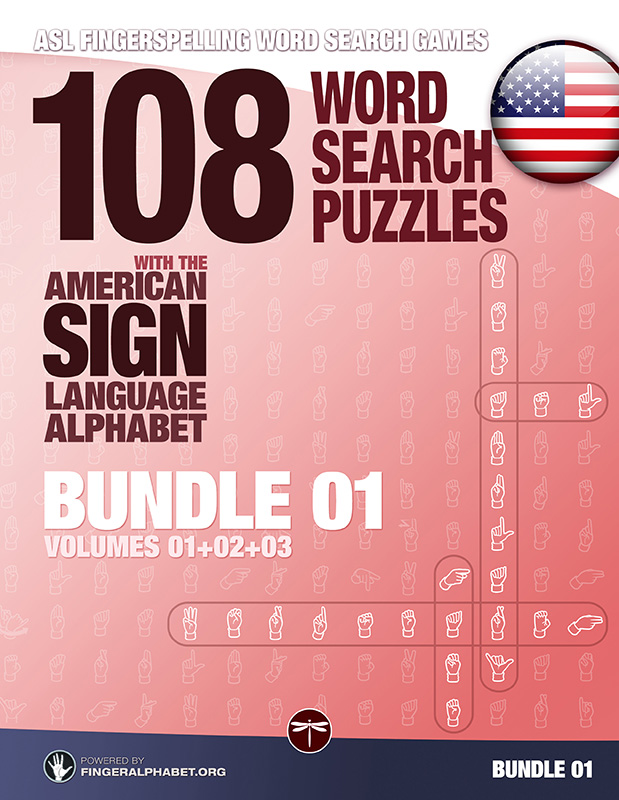 Word Search Puzzles with the American Sign Language Alphabet