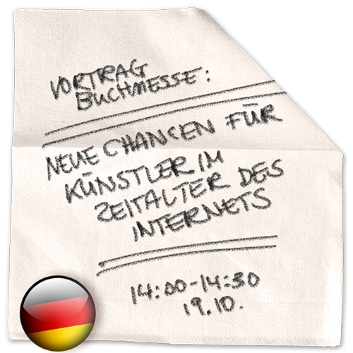 """Buchmesse Frankfurt 2016 – Vortrag – """"Neue Chancen für Kreative im Zeitalter des Internets"""""""