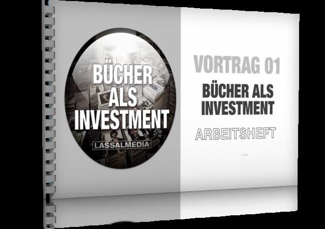 """Bild vom Arbeitsheft für den Vortrag """"Bücher als Investment"""""""